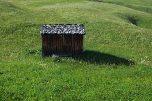 austian shaft in the mountain fields