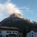 mountaintop over Lech Austria